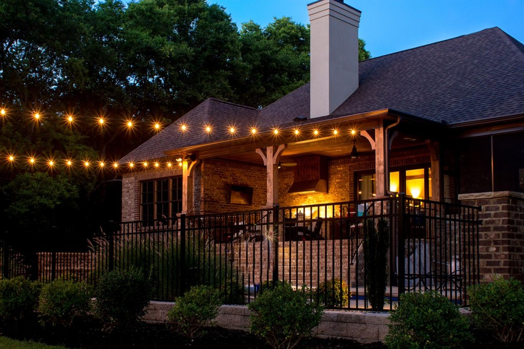 String Lights Are Perfect For Screened In Porches Outdoor Kitchens Restaurant Patio