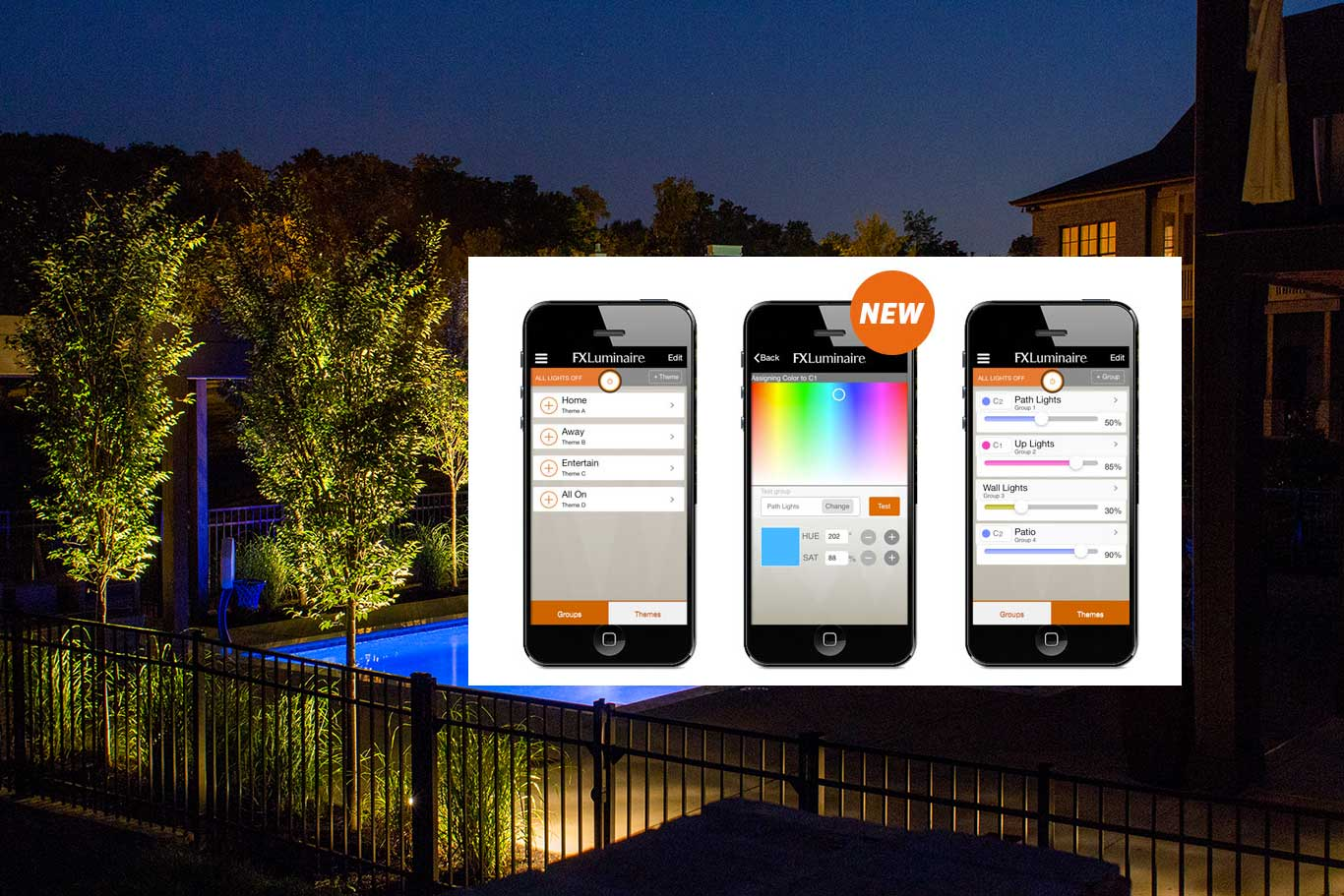 control outdoor lighting with smartphone