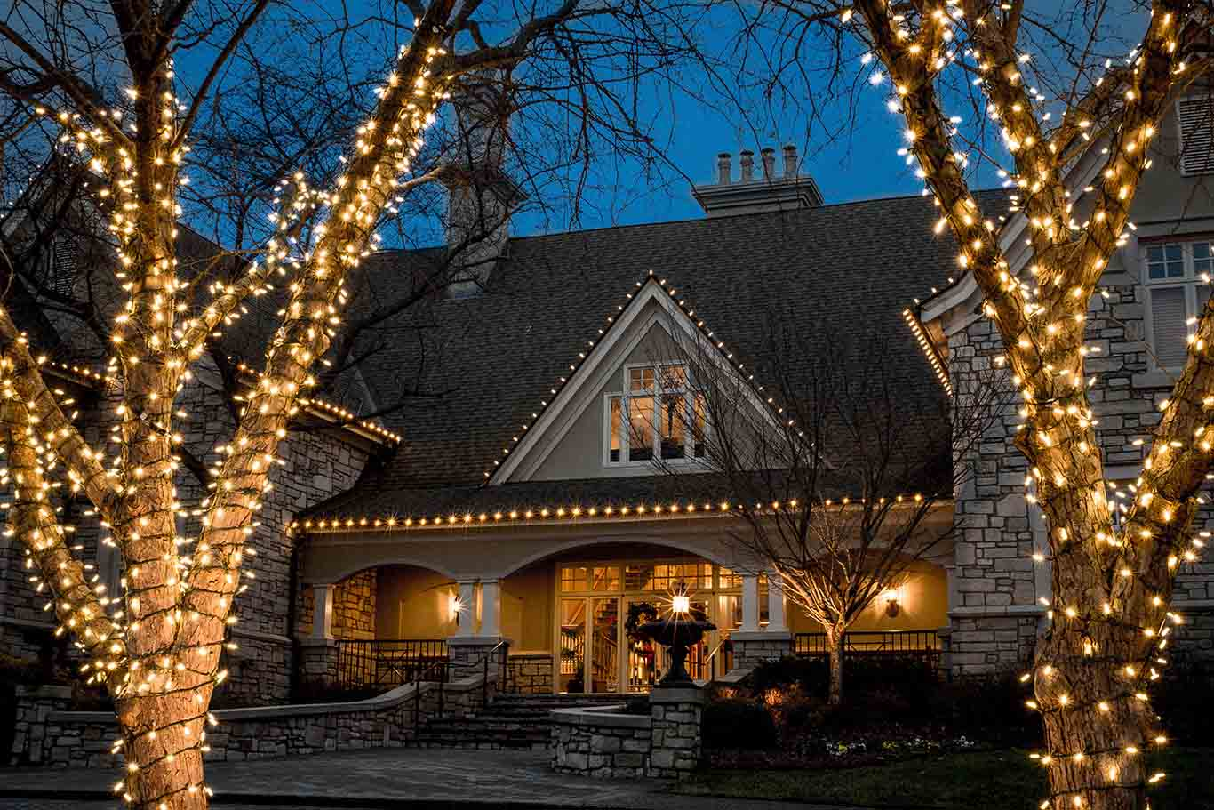 Professional Christmas lighting and holiday decorating