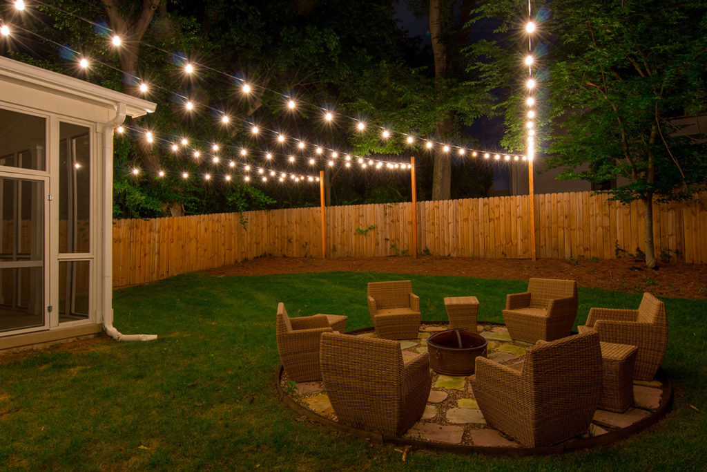 Custom string lights light up nashville design and Outdoor string lighting