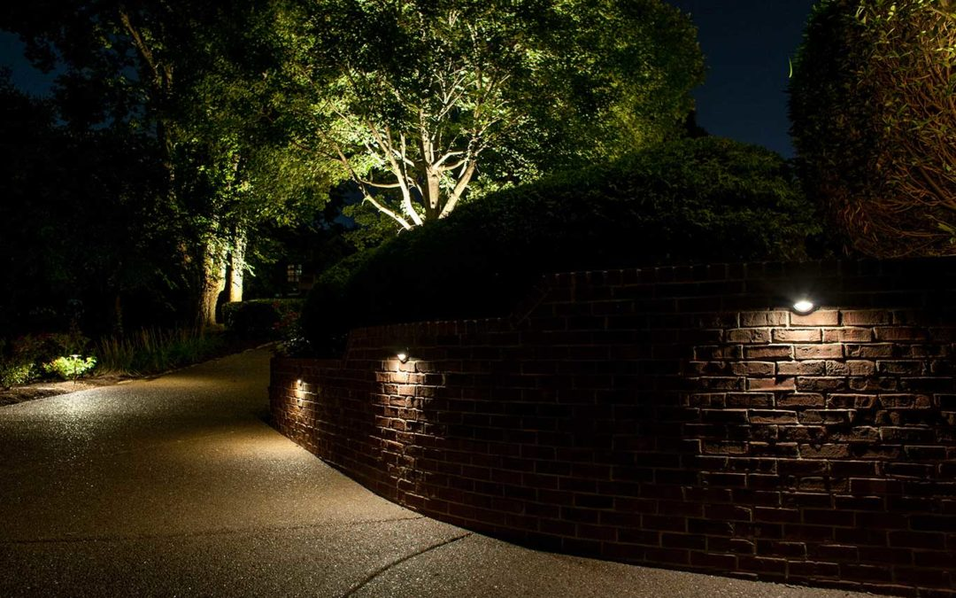 Security Lighting in Driveway of Home