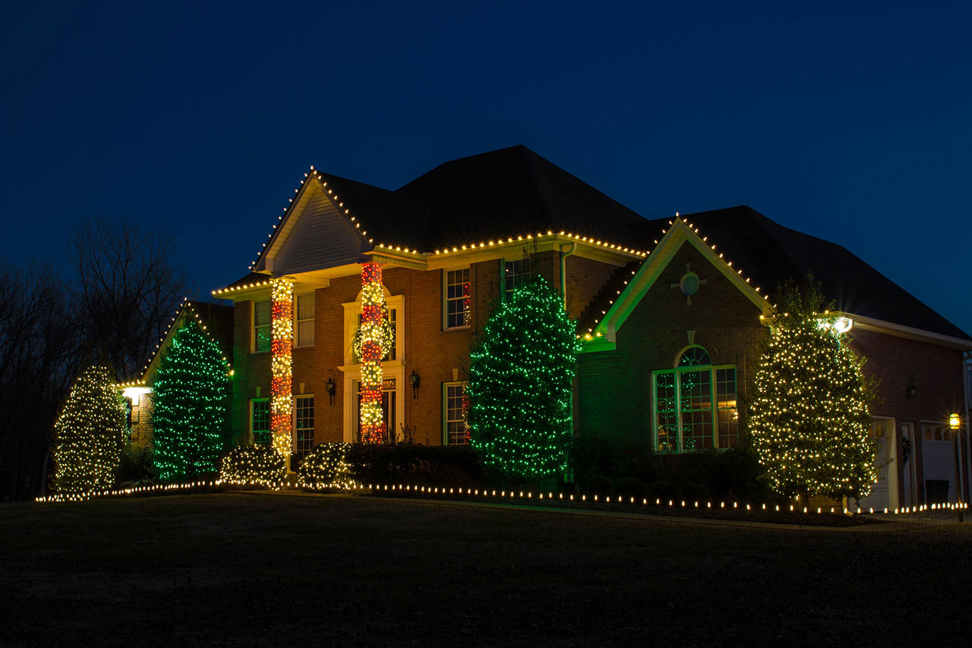 home with professional holiday lights