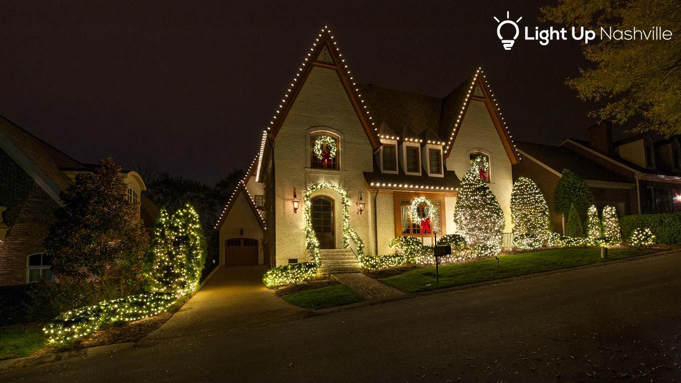 Green Hills home with Christmas lights