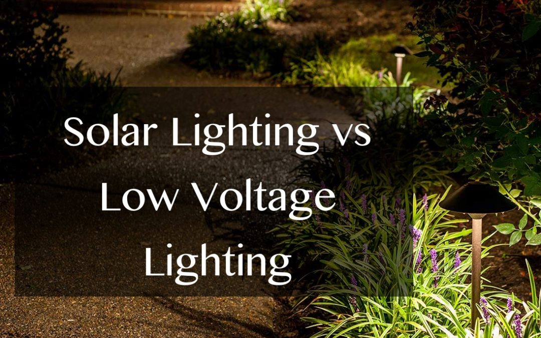 Solar Lighting vs Low Voltage Lighting