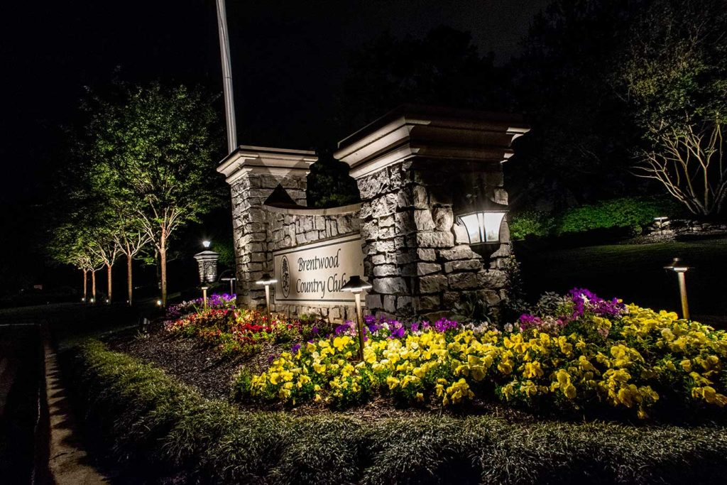 Brentwood Country Club Neighborhood Entrance Lighting