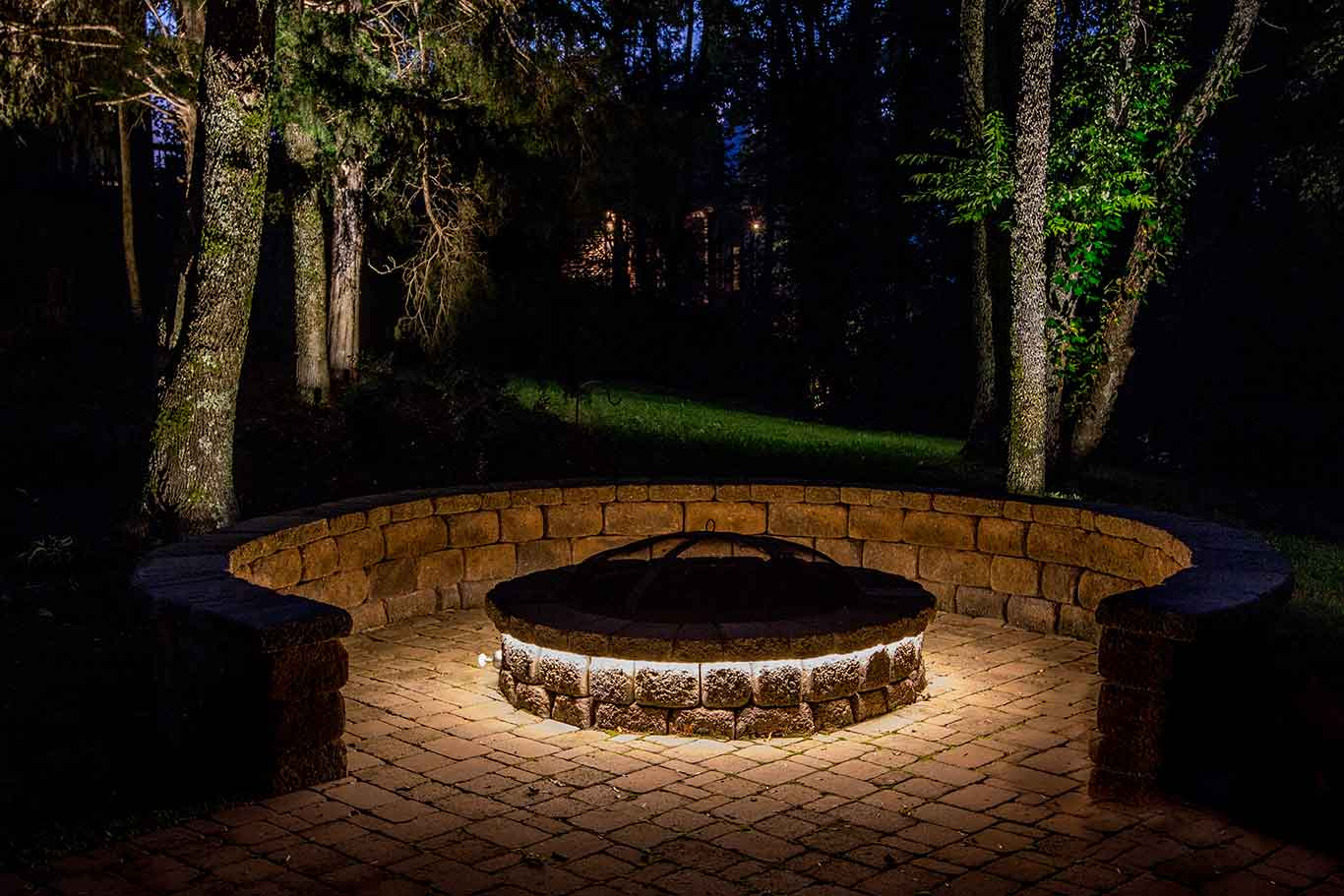 led strip lighting firepit continuous lighting effect