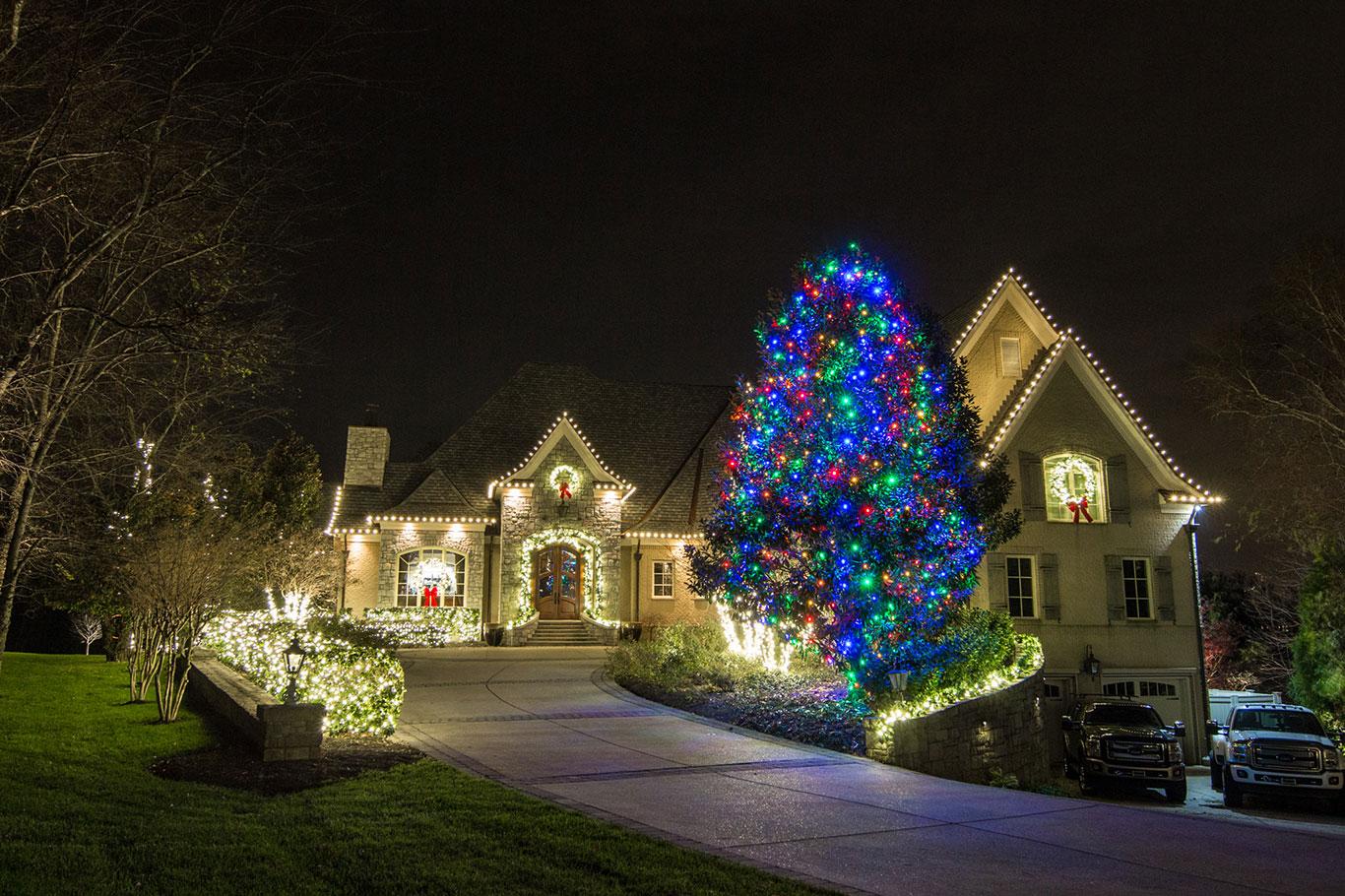 2017 Holiday Display Multi-Color Tree