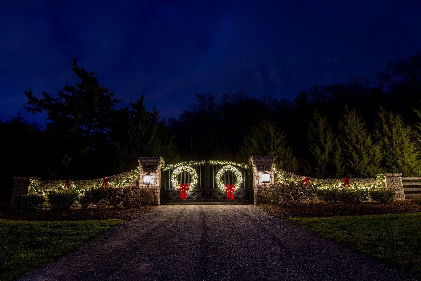 2017 Christmas Display Neighborhood Entrance