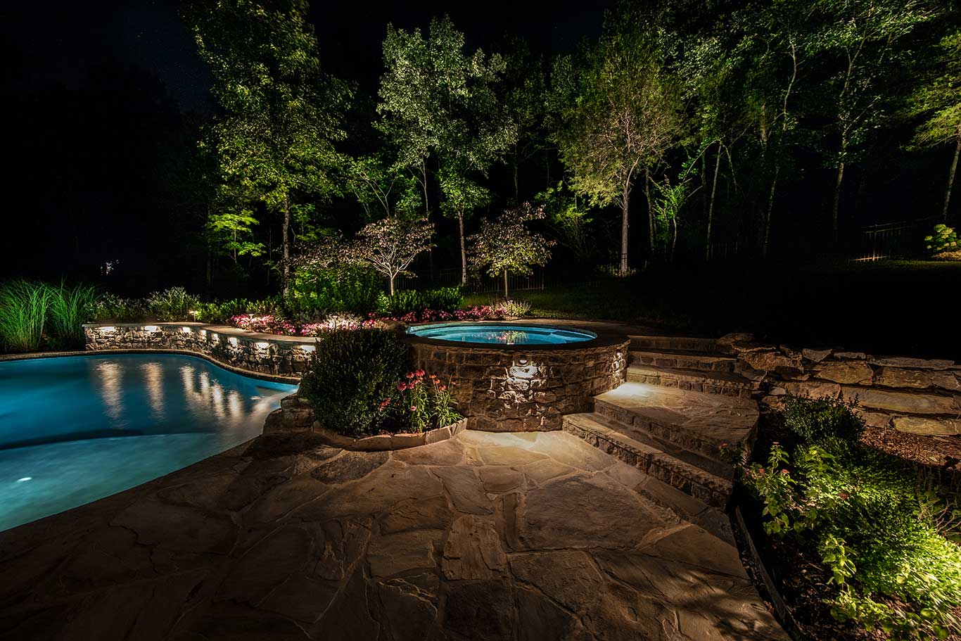 pool patio lighting franklin tn