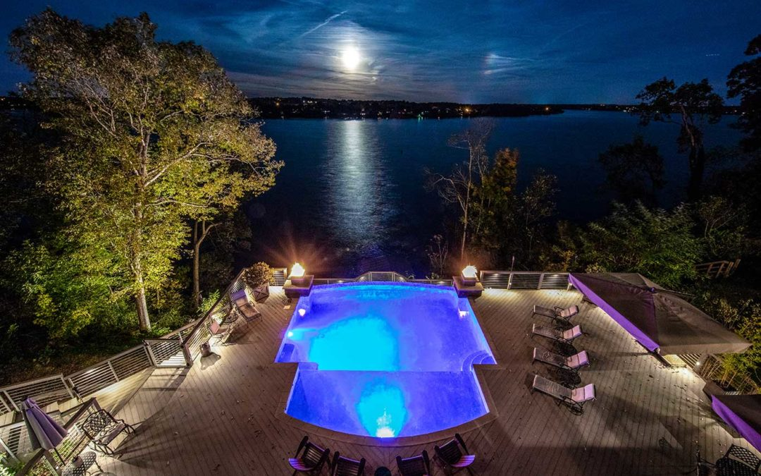Deck & Pool Lighting Project – Infinity Pool With A View Over Cumberland River