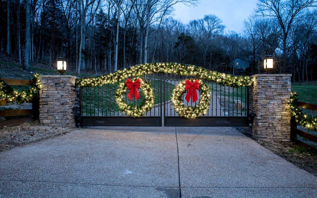 Beautiful holiday lighting in Nashville