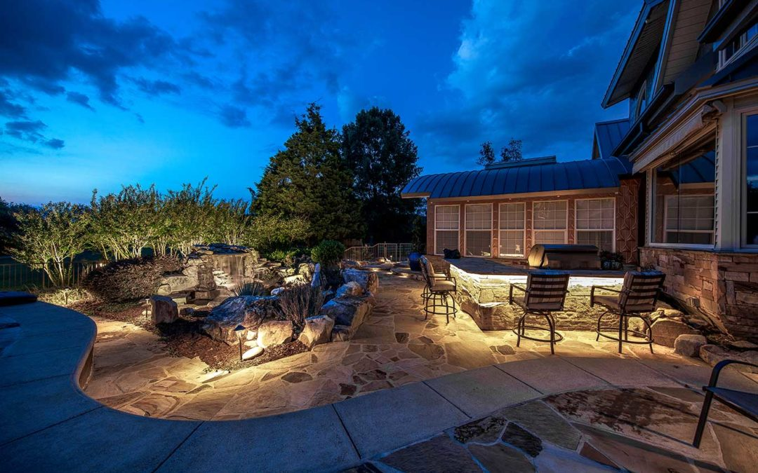 Backyard Living Space Lighting