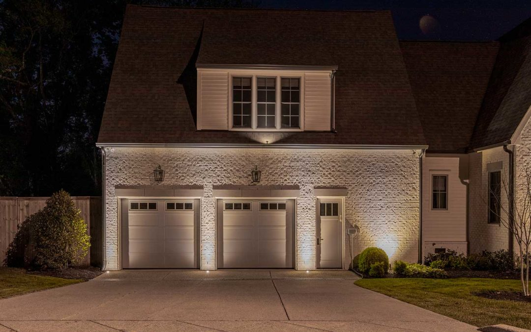 Recessed Up Lights in Concrete