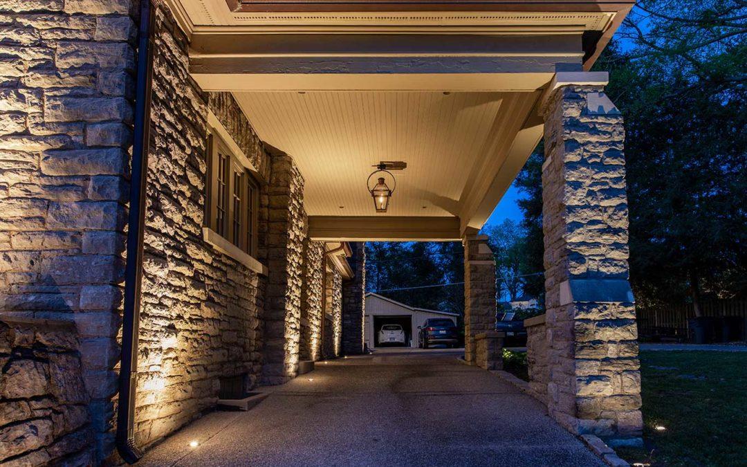 Outdoor Drive & Porte-cochere Lighting
