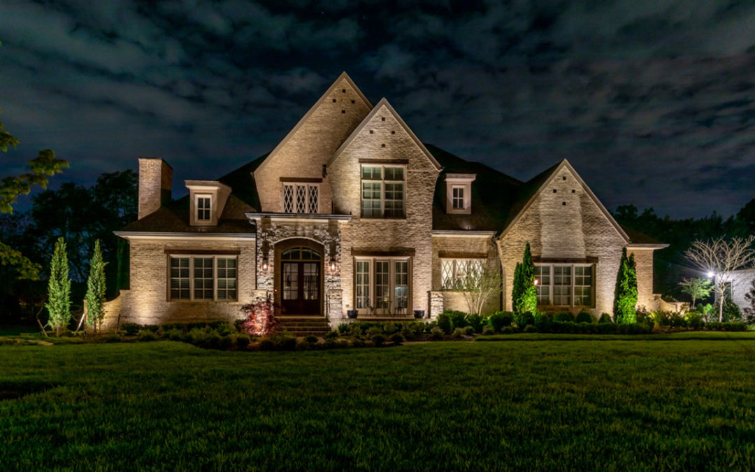Up Lighting on House in Brentwood, TN