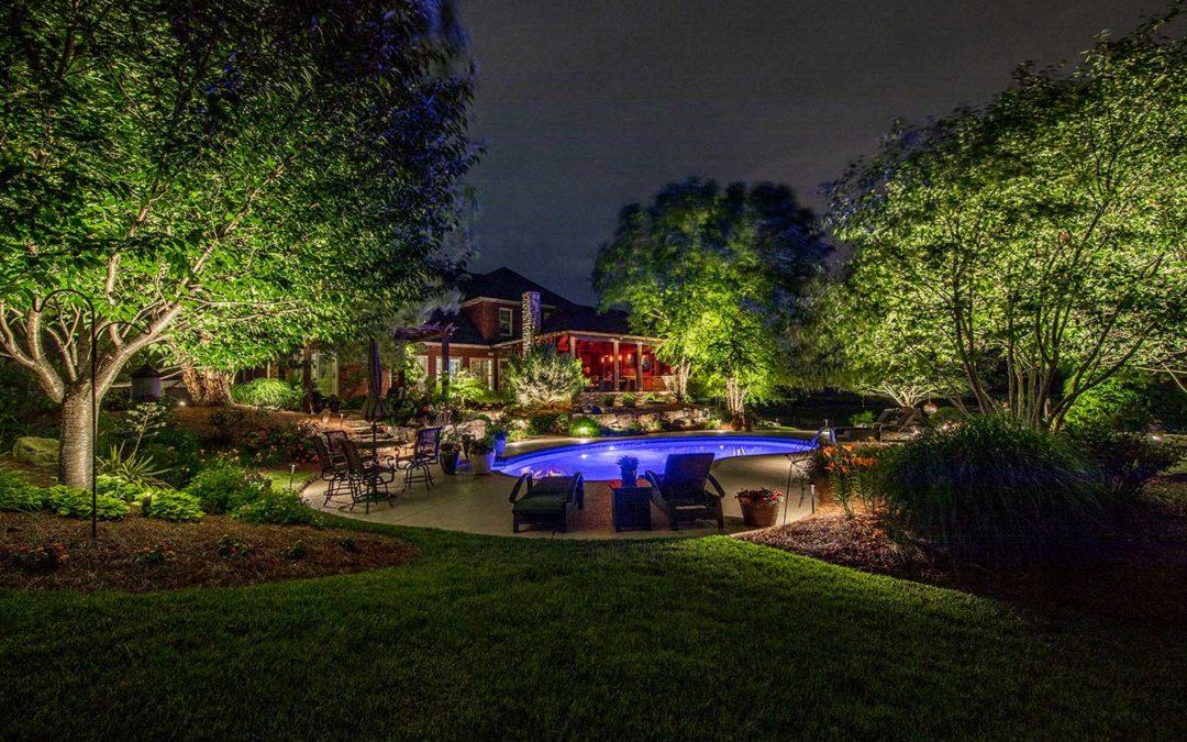 Landscape Lighting Around Swimming Pool