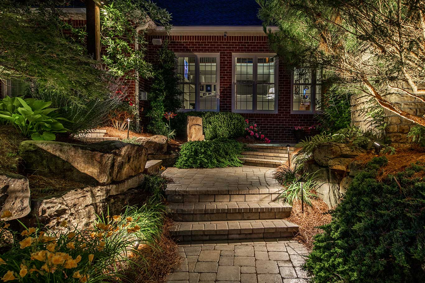 outdoor lighting for safety and visual interest