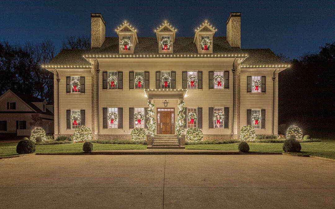 Warm White Exterior Christmas Display