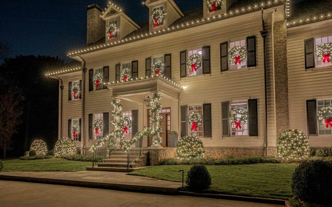Christmas Greenery and Lights