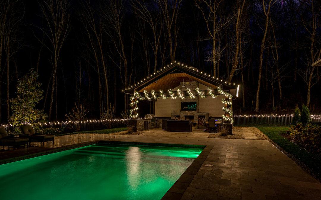 Pool House Christmas Lights