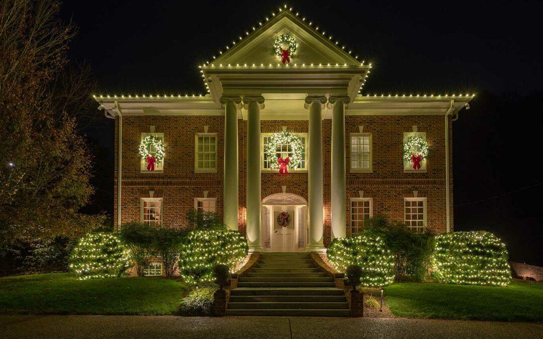 Elegant Holiday Lighting Display